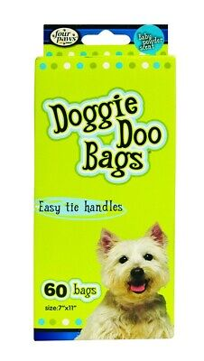 FOUR PAWS - Doggie Doo Bags Biodegradable - 60 Bags