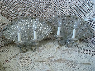The Best Old Italian Beaded Sconces Mirrored Fan Shaped ********Rare*********