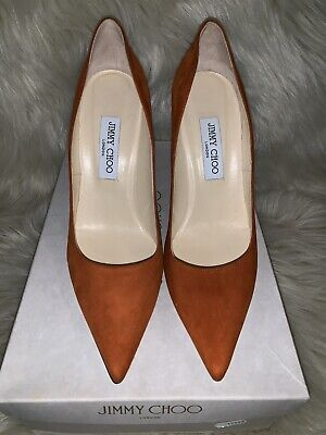f55310ad604 JIMMY CHOO ABEL Pumps, Nude Patent Leather, Size 40.5 / 10.5 Orig ...