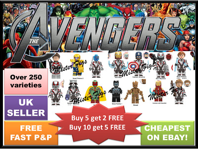 Minifigures Superhero Marvel DC Star Wars Mini Figure Custom Building Blocks TOY