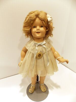 Original 1934 Shirley Temple 18 Composition Doll Original Dress Ideal Toy Corp