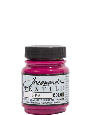 Pink Textile Paint One Size