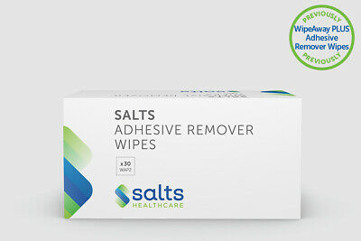 Salts Adhesive Remover Wipes 30 Individually Wrapped Wipes Per Box.FREE SHIPPING
