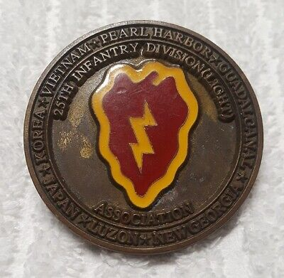 Authentic Early 25Id (Light) Pre-Desert Storm Very Old / Rare Challenge Coin