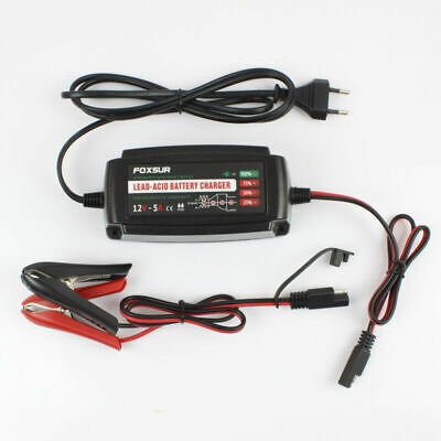 12V 5A Car Battery Charger Maintainer Trickle Automobile 4-stages EU PLUG