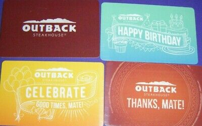 OUTBACK STEAKHOUSE COLLECTIBLE GIFT CARD LOT of 4 Different Cards No Value