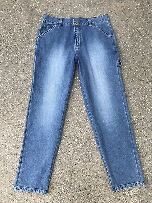 c36a6b0c LEE RIVETED CARPENTER Jeans Womens Size 12 Medium Original Fit Blue ...