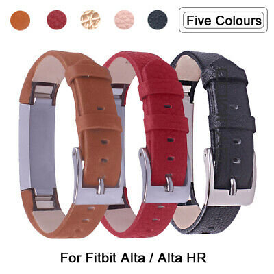 Genuine Leather / Silicon Watch Strap Band For Fitbit Alta /Alta HR / Charge 2