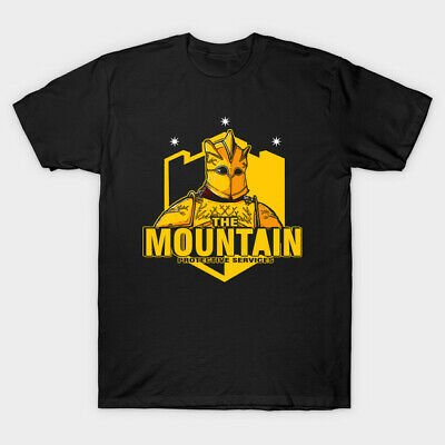 The Mountain Protective Services Funny Game Of Thrones Black T-Shirt S-6XL