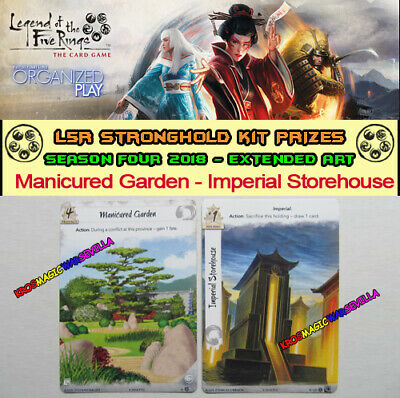 LEGEND OF THE FIVE RINGS L5R LCG - Manicured Garden -Promo Stronghold Kit 4 2018