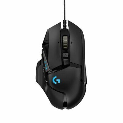 Logitech G502 HERO Gaming Mouse with HERO Sensor (RGB Mice, 16000 DPI) A