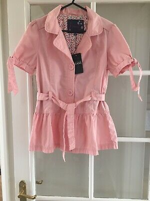 Debenhams Pink Jasper Conran Belted Summer Jacket Age 14 New With Tags Girls