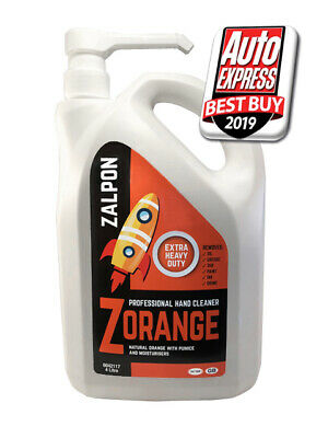 ROZALEX Zalpon ZOrange - Extra heavy-duty hand cleaner with pumice 4 ltr bottle