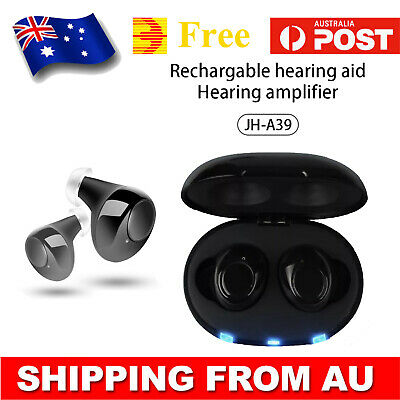 2019 New Hearing Aid Mini Rechargeable Invisible Hearing Aids 2PCS AU Shipping