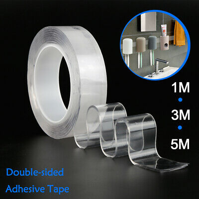 Double-sided Grip Tape Nano Invisible Gel Traceless Washable Adhesive Tape UK
