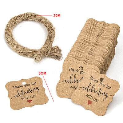 Labels Wrapping Wedding Rustic Decoration Celebration Cardboard Handmade Crafts