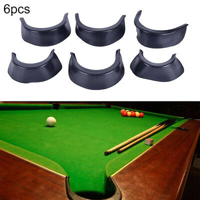 6Pcs/Set Billiard Pool Table Valley Pocket Liners Rubber Billiard Replacement QY