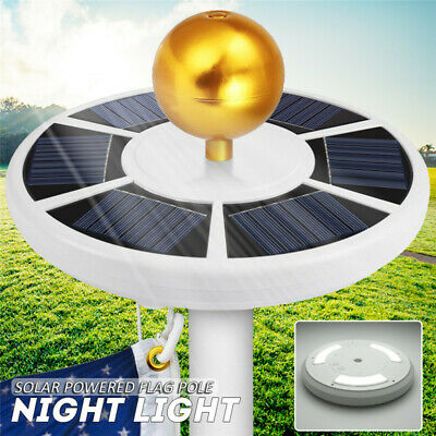 42 LED Solar Powered Waterproof Flag Pole Night Light Powerful Downlight