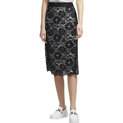 a103c9777 DKNY Womens Black-Ivory Lace Suit Separate Career Wear Pencil Skirt 2 BHFO  5507