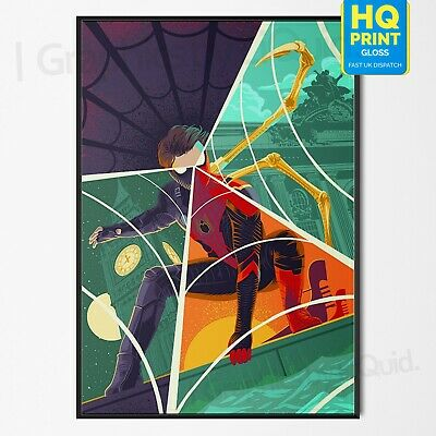 Spiderman Far From Home Art Print 2019 Poster Marvel Movie   A4 A3 A2 A1  