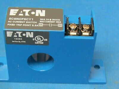 Eaton Ecsnofscy1  Ac Current Switch Fixed  5.5 Amp  Solid Core Housing