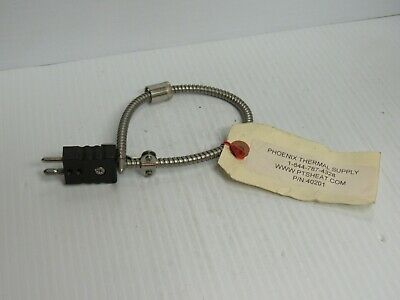 """New Pts Heat Phoenix Thermal Supply Thermocouple 40201 14-1/2""""Oal"""