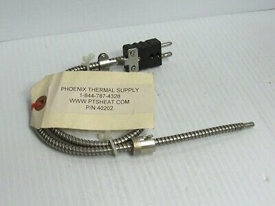 """New Pts Heat Phoenix Thermal Supply Thermocouple 40202 26""""Oal"""