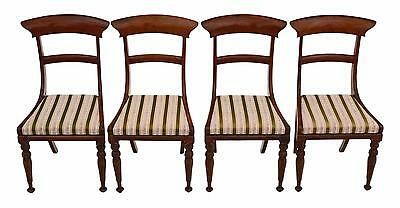 Antique set of 4 Regency C1825 rosewood dining chairs