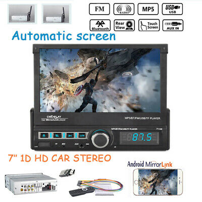 7''1 Din Car Radio Automatic Touch Screen TF Bluetooth Mp5 Player FM Mirror Link