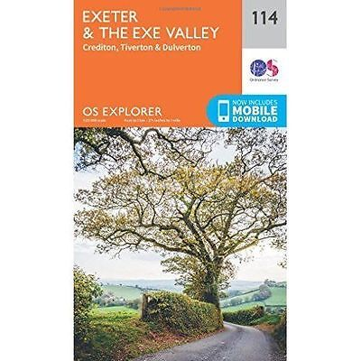 OS Explorer Map (114) Exeter and the Exe Valley, Ordnance Survey, New, Map