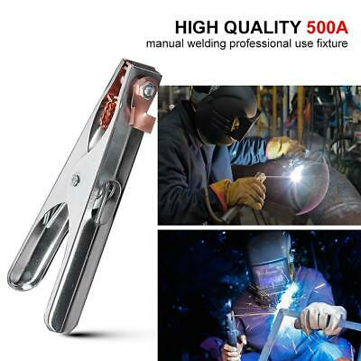 500A Earth Ground Cable Clip Clamp Welding Manual Welder Electrode Holder Safe