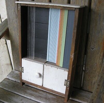 Vintage Funky Junk Wall Art Photo Frame Cabinet Recycled Wood Quirk Antique