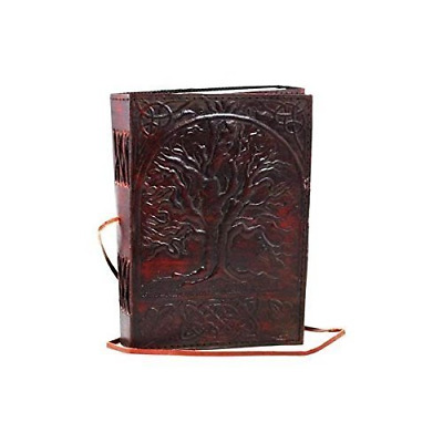 Magical Vintage Large Tree of Life Leather 200 Pages Blank Book Diary Journal