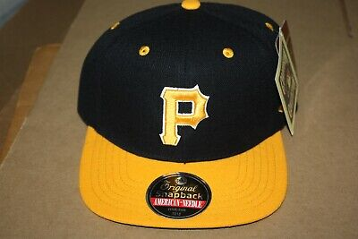 sports shoes 309c7 3d36f American Needle Pittsburgh Pirates Snapback Flat Bill 2Tone Hat Cap New