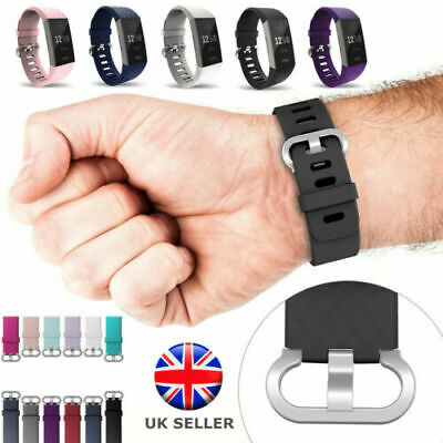 Silicone Sport Wrist Strap Accessory Watch Wristband For Fitbit Charge3 UK STOCK