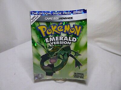 Pokemon Emerald Version Official Nintendo Strategy Guide GBA  NO POSTER