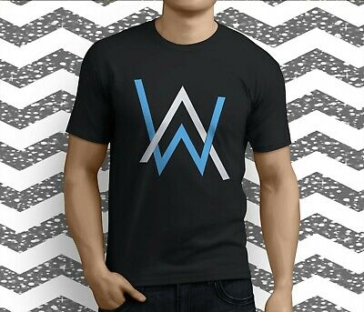 a5b788f27 New Popular DJ Alan Walker Logo Faded Electro Music Men's Black T-Shirt S-