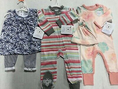 NWT Burts Bees Baby Girl Size 6-9 M Clothing Lot