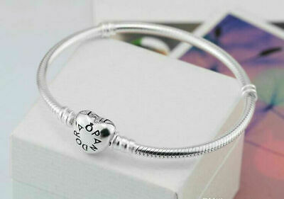 Pandora Silver Charm Bracelet Heart Clasp With GIFT Pouch