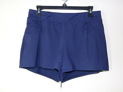 4163321ceb New Lands End 10 swim shorts attached panty w/ tummy control Deep sea navy