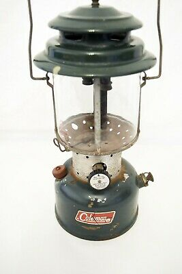 Vintage Coleman Dual Mantel Lantern 220F Marked 3- 69 - Good Globe - Untested