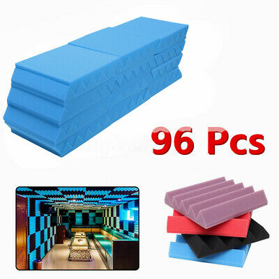 96 Packs 10''x10''x2'' Acoustic Foam Panel Wedge Studio Soundproofing Wall Tiles