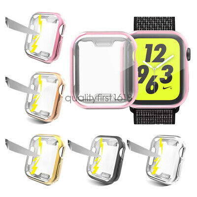 For Apple Watch Series 5 4 44mm 40mm Full Body TPU Cover Case + Screen Protector