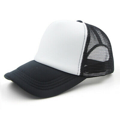 Fashion Women Men Trucker Mesh Baseball Cap Plain Blank Hat Curved Visor Hat