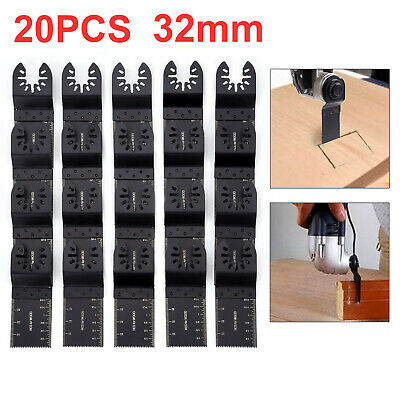 20Pcs Oscillating Multi Tool 32mm Saw Blades For DeWalts Porter Cable Multitool