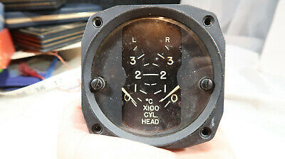 s WWII ERA Hickok Electric Instruments Co 2 Engine Cylinder Temperature Gauge