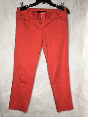 Woman's The Limited Drew Fit Size 6 Red Capris
