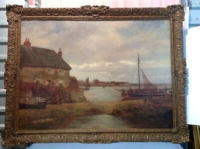 "JAMES CHARLES Oil Painting signed 1890  54""x42"" BRITISH ARTIST"