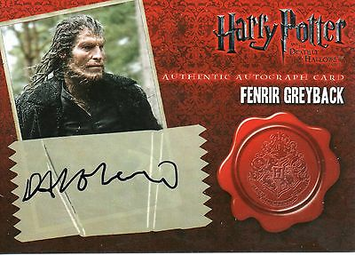Artbox HARRY POTTER Deathly Hollows Dave Legeno (Fenrir Greyback) Autograph Card
