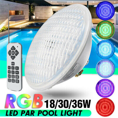 18W 30W 36W RGB LED Underwater Swimming Pool Light Par56 Lamp+Romete